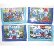 """Детский кошелёчек """"Smurfs"""" (рисунок и цвет-ассорти)"""