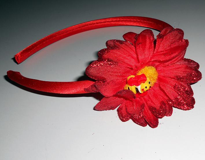 Как сделать на ободке цветочек